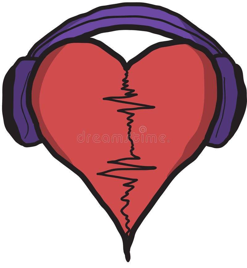 Battement de coeur de musique image stock