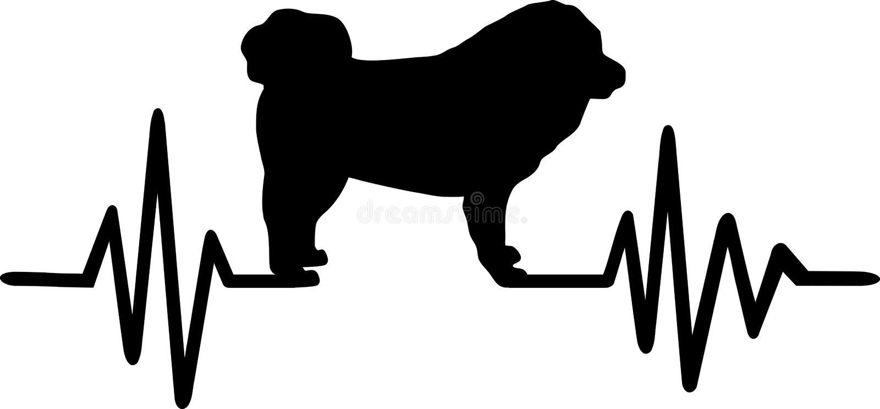 Battement de coeur de mastiff tibétain illustration de vecteur