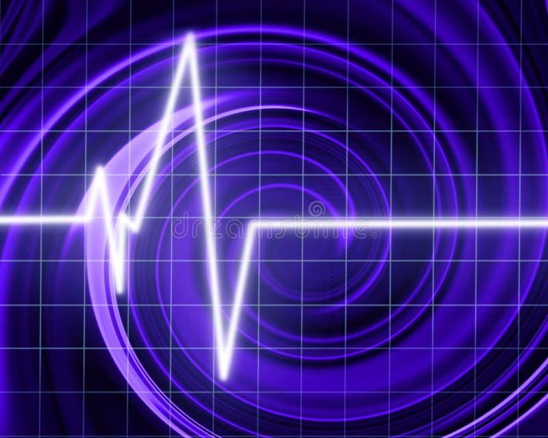 Battement de coeur sur le moniteur de clinique illustration libre de droits