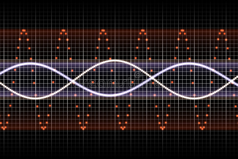 Battements de battement futuristes de musique illustration de vecteur