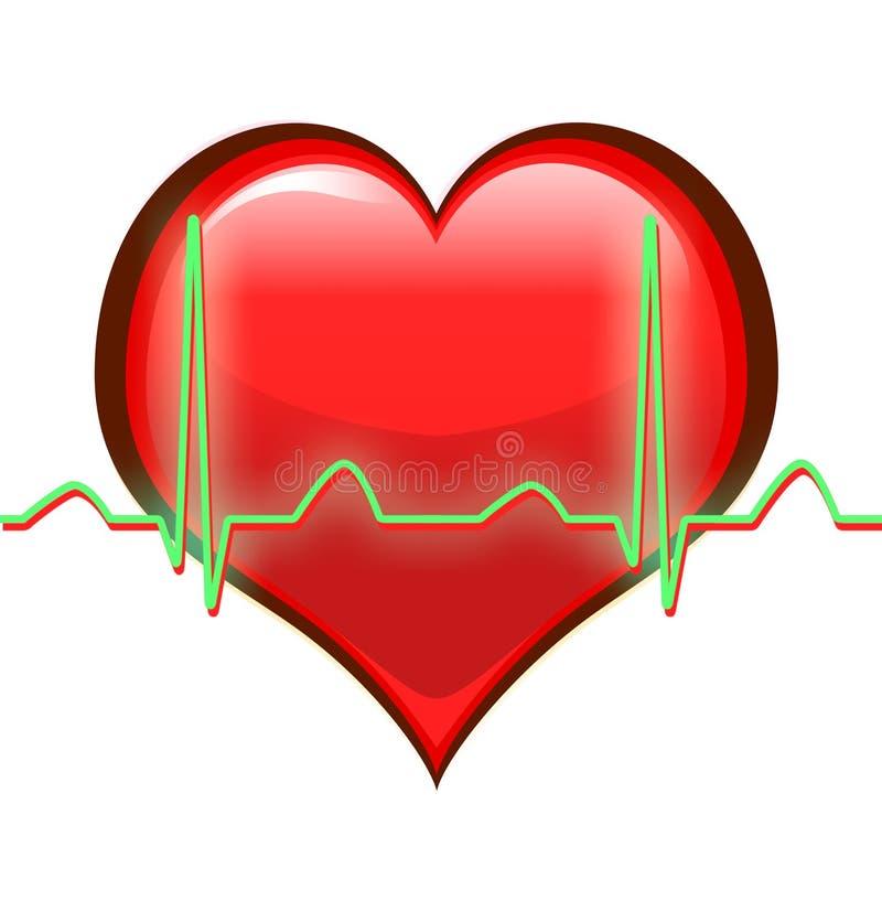 Battements de coeur illustration stock