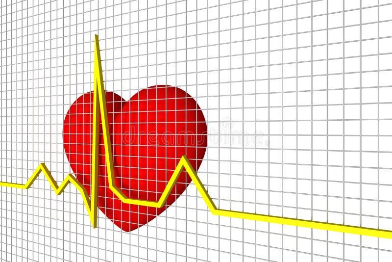 Battements de coeur illustration libre de droits
