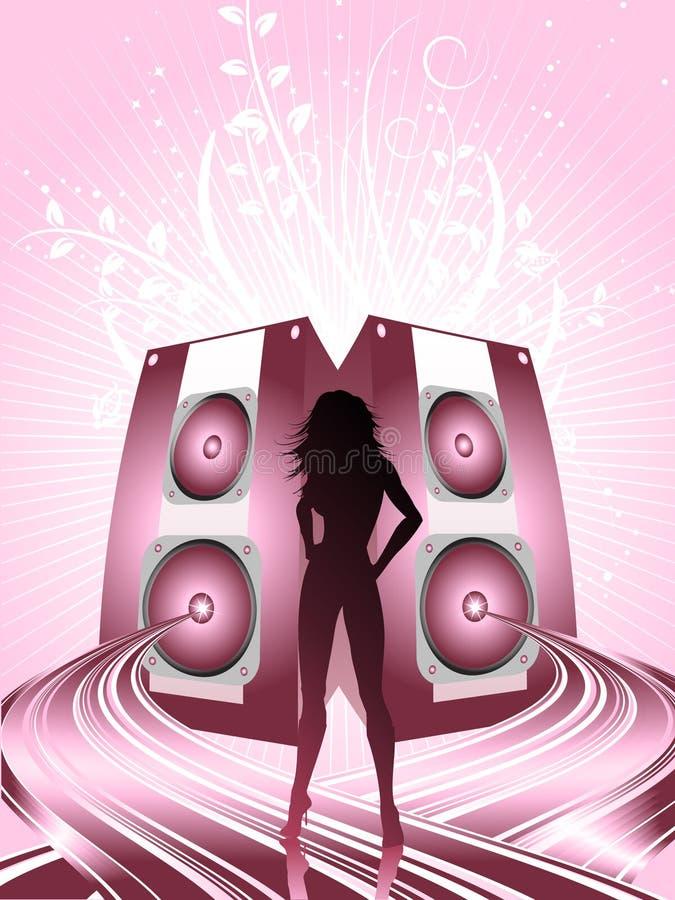 Battements de disco illustration de vecteur
