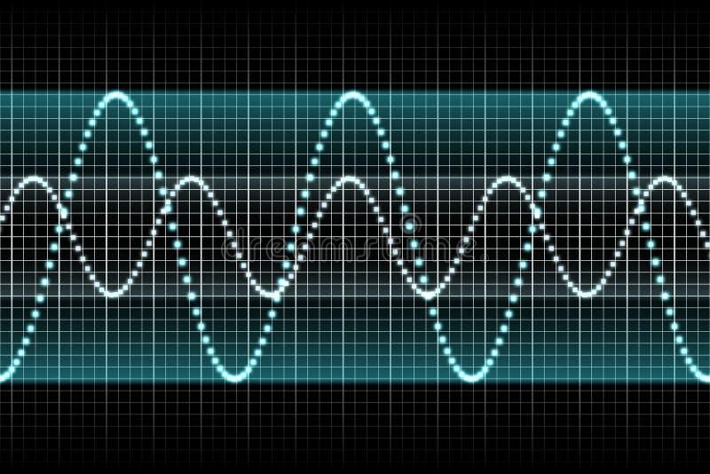 Battements sains de musique de rythme de palonnier illustration stock