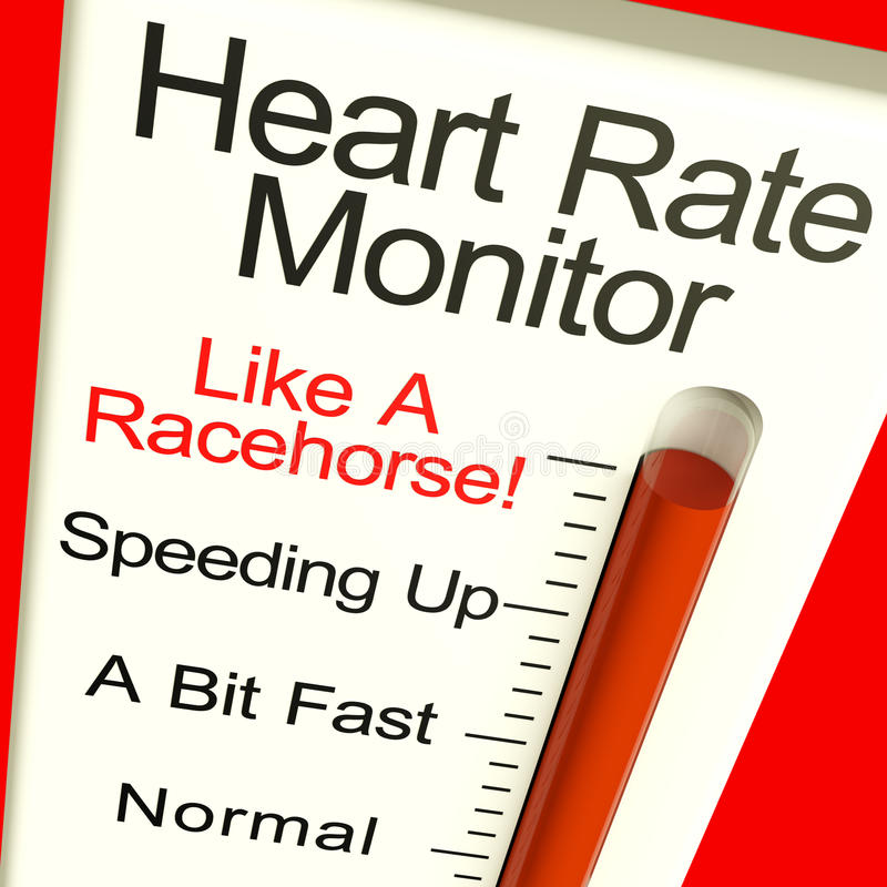 Battements très rapides d'apparence de moniteur de fréquence cardiaque vite illustration de vecteur