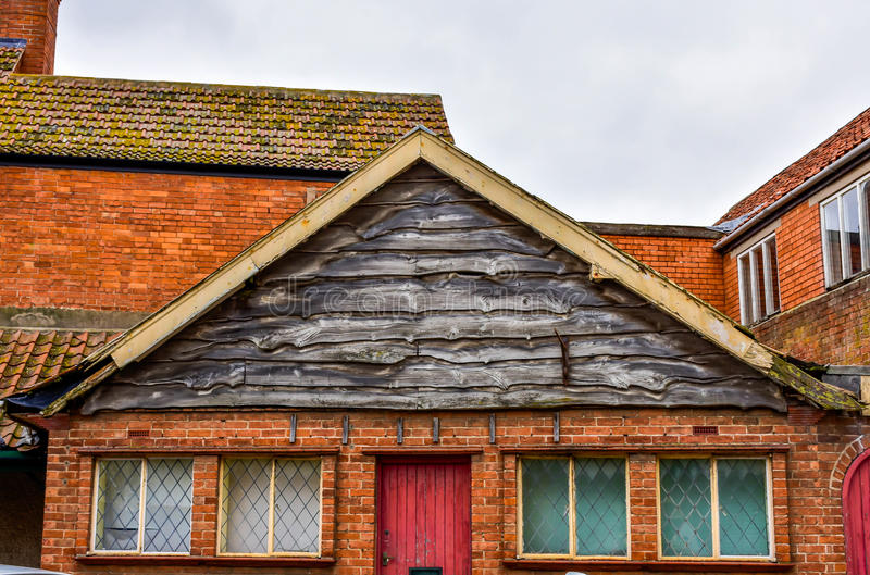 The batten facade of roof stock photo