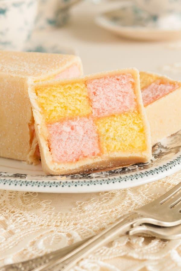 Battenberg Kuchen lizenzfreies stockfoto