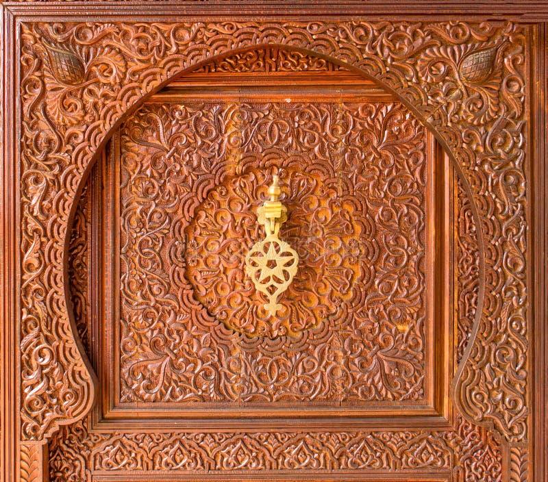 Battente di portello marocchino di stile immagine stock libera da diritti