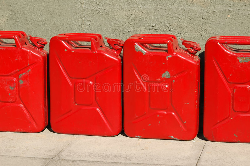 Download Battered Fuel Cans Royalty Free Stock Photos - Image: 3959388