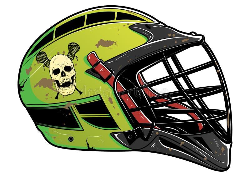 Battered Lacrosse Helmet EPS vector illustration