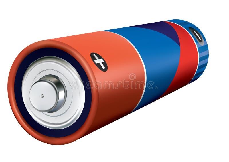 batteri vektor illustrationer