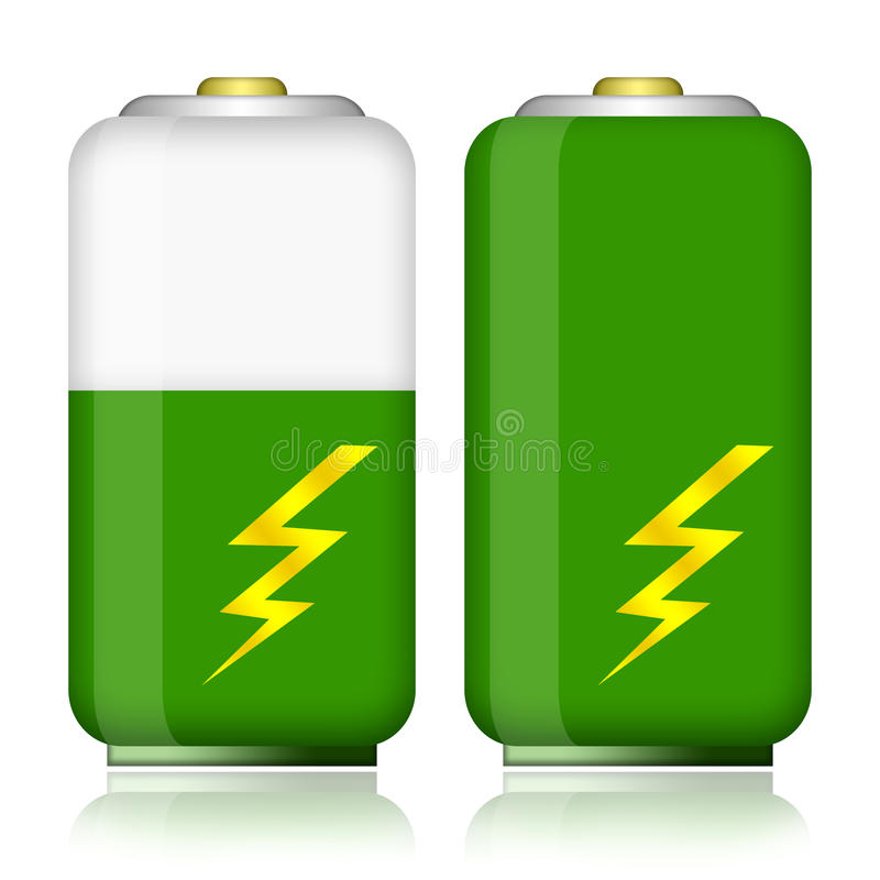 Batteri royaltyfri illustrationer