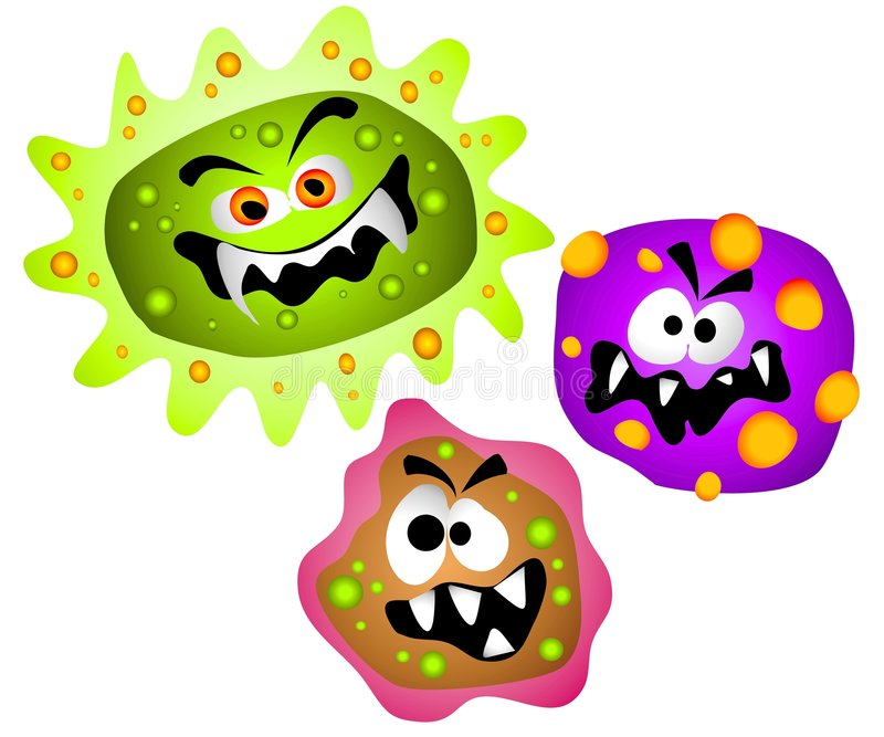 Batteri Clipart dei virus dei germi illustrazione di stock