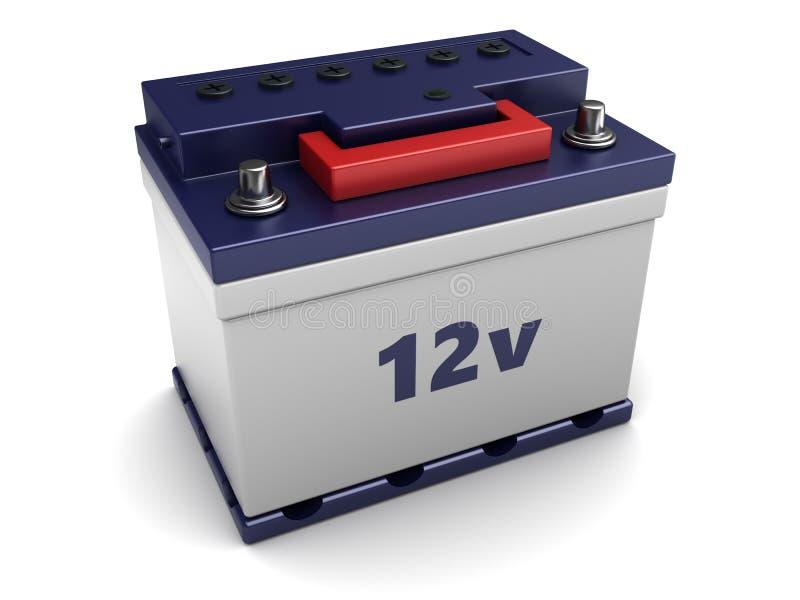 batteri för bil 3d vektor illustrationer