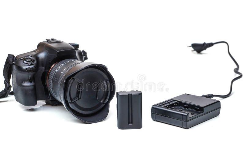 Batteri för DSLR-kamera royaltyfri bild