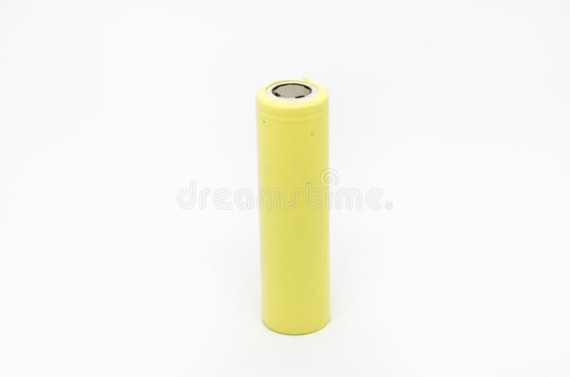 batteri för litium som 41865 isoleras på vit bakgrund arkivfoton