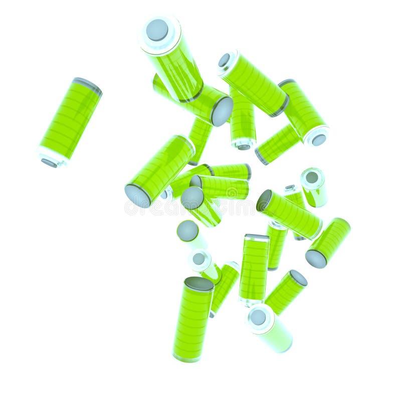 Batteri för liv stock illustrationer