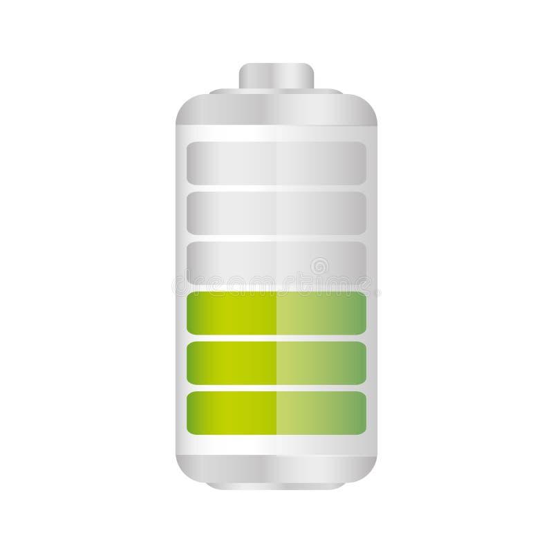 batteri i femtio procent symbol stock illustrationer