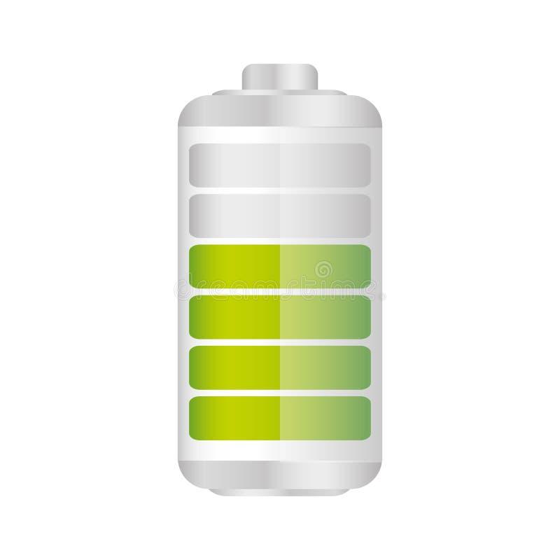 batteri i sjuttio procent symbol royaltyfri illustrationer