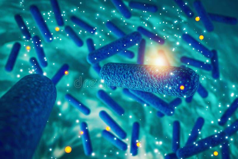 Batteri, infezione batterica, batteri resistenti degli antibiotici, royalty illustrazione gratis