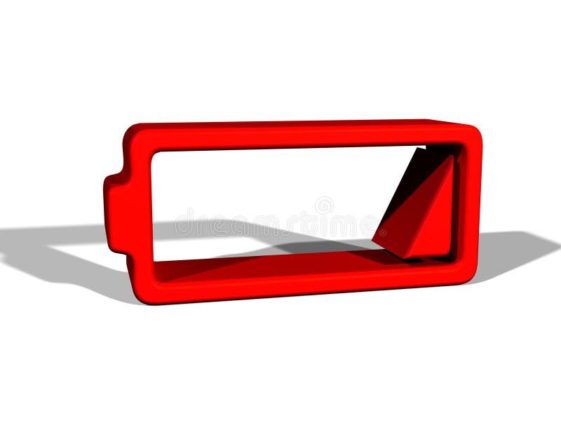 Batteria a basso livello illustrazione di stock