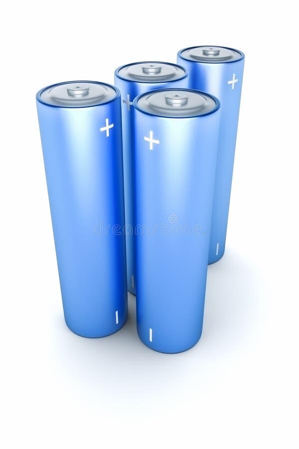 Download Batteria blu illustrazione di stock. Illustrazione di elettronico - 30825763