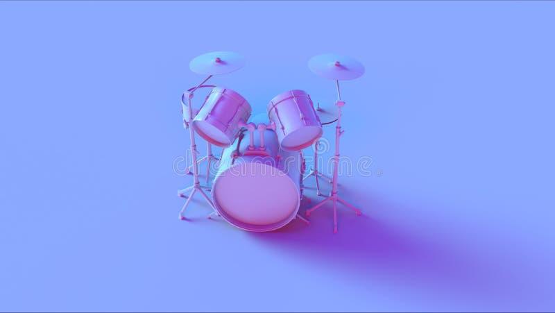Batteria d'annata rosa blu illustrazione di stock