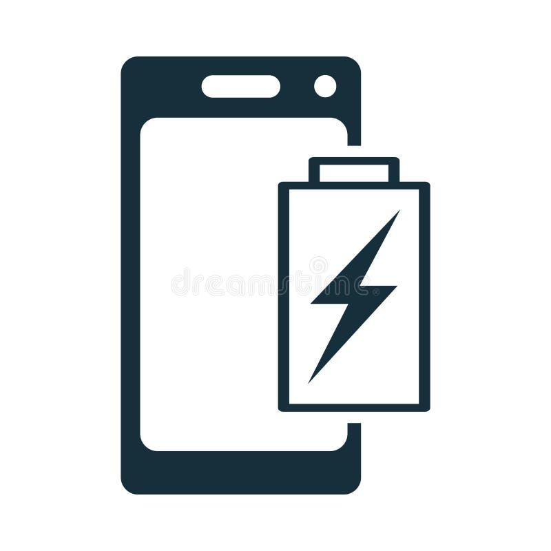 Batteria del telefono cellulare che carica icona illustrazione vettoriale