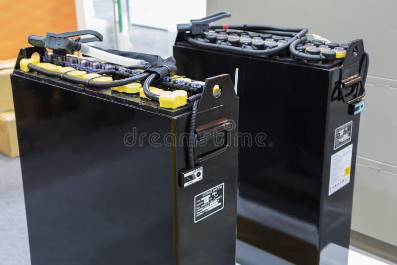 Batteria industriale per il carrello elevatore fotografie stock