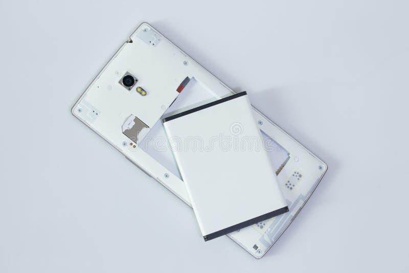 Batteria rimossa dallo Smart Phone fotografie stock libere da diritti