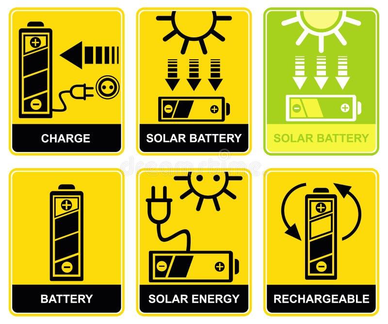 Batteria solare, carica, ricarica royalty illustrazione gratis