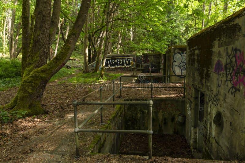 Batteria storica Thornburgh dell'artiglieria del reparto forte fotografie stock