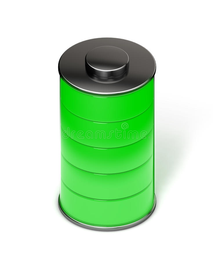 Batteria verde piena isometrica royalty illustrazione gratis