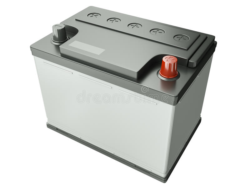 batteribil stock illustrationer