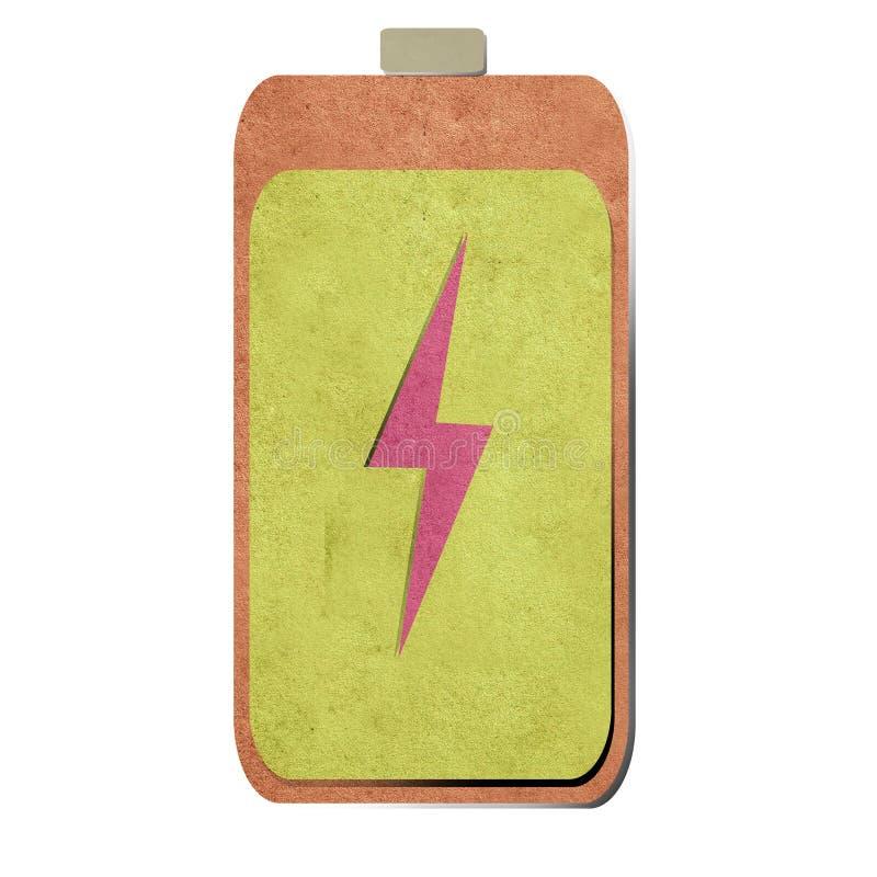 Batterie aufbereiteter Papierfertigkeithintergrund lizenzfreies stockfoto