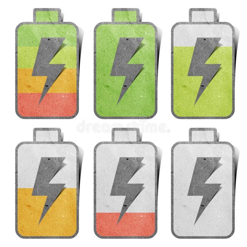 Batterie-Aufladungsikone lizenzfreies stockbild