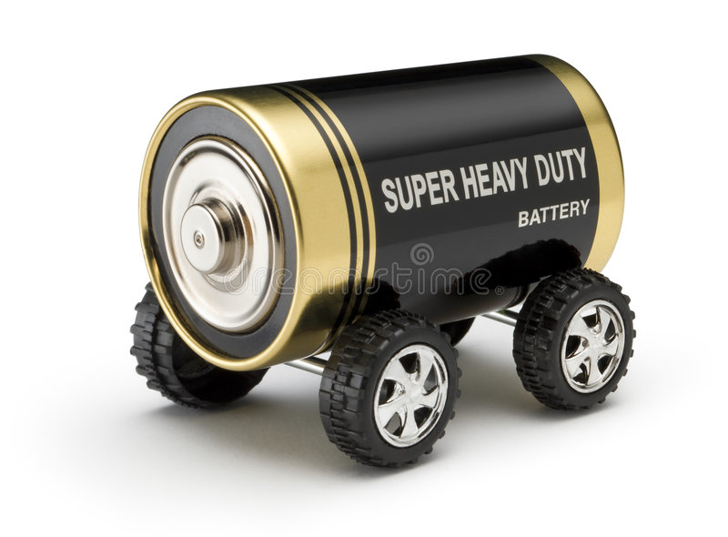 Batterie-Auto lizenzfreies stockbild