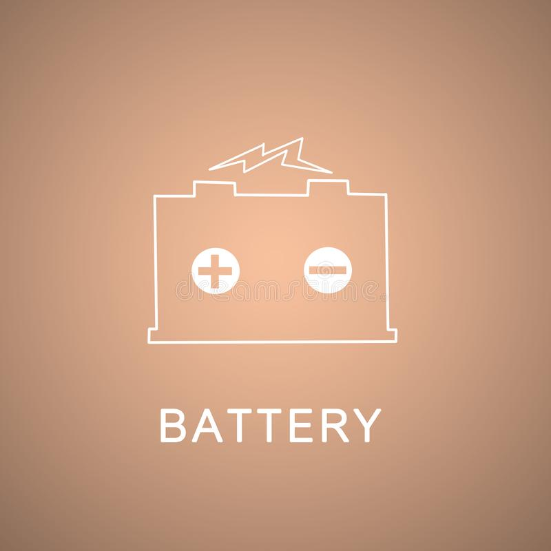 batterie lizenzfreie abbildung