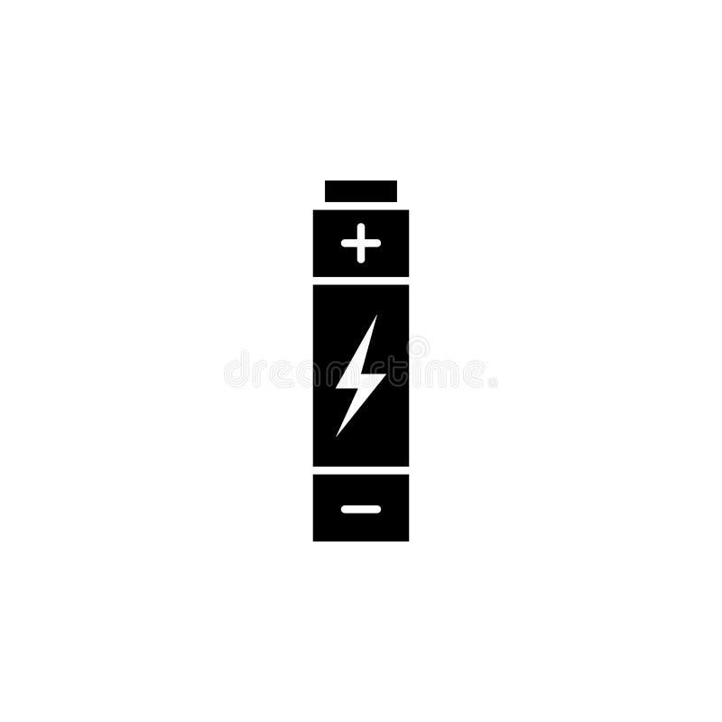 Batterie, Blitzikone auf weißem Hintergrund Kann für Netz, Logo, mobiler App, UI UX verwendet werden vektor abbildung