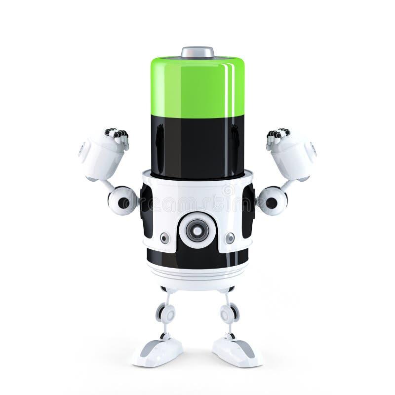 Batterie chargée puissante. illustration de vecteur