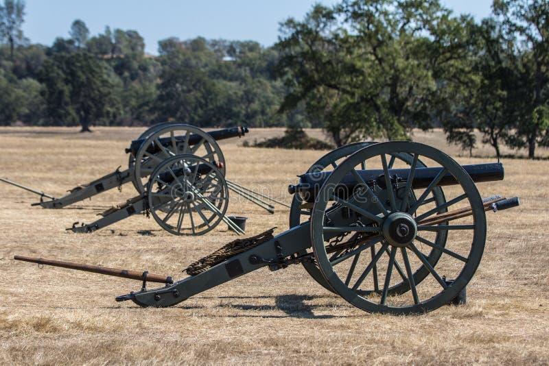 Batterie confédérée de canon photographie stock libre de droits