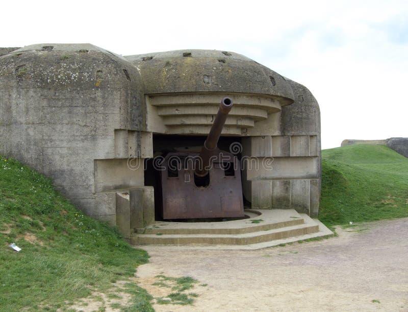Batterie d'artillerie allemande images libres de droits
