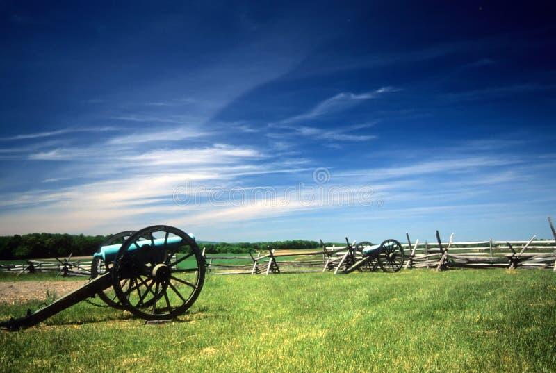 Batterie d'artillerie de Napoleon photos libres de droits
