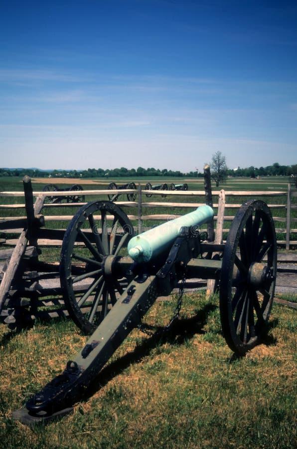 Batterie d'artillerie de Napoleon image libre de droits