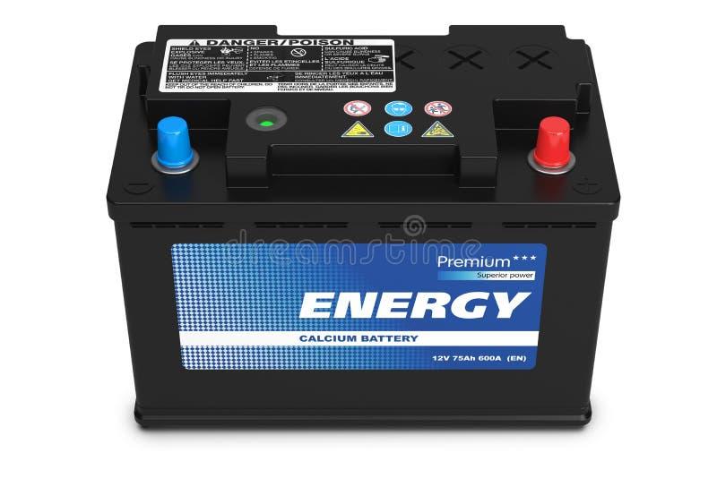 Batterie d'automobile noire illustration stock