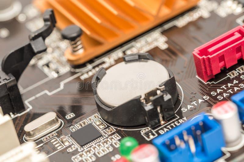 Batterie de cellules de bouton de lithium photographie stock