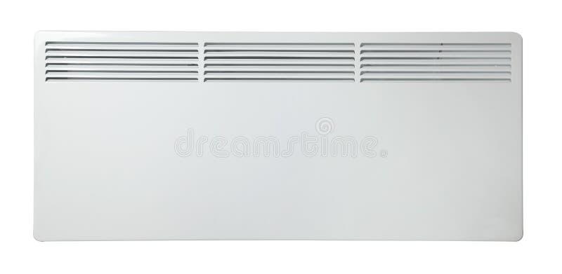 Batterie de radiateur ?lectrique radiateur D'isolement sur le fond blanc photos libres de droits