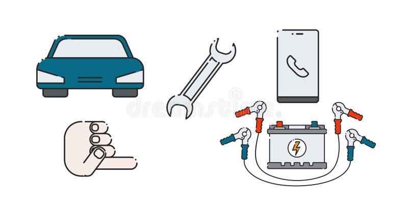 Batterie de voiture illustration libre de droits