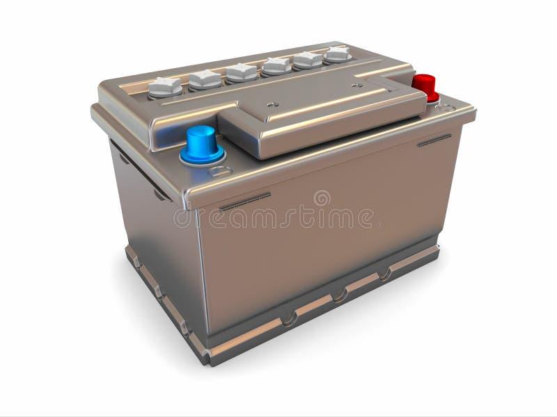 Batterie de voiture. 3d illustration de vecteur