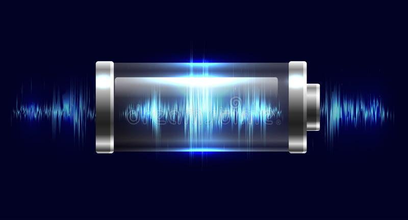 Batterie dell'illustrazione con la carica elettrica royalty illustrazione gratis